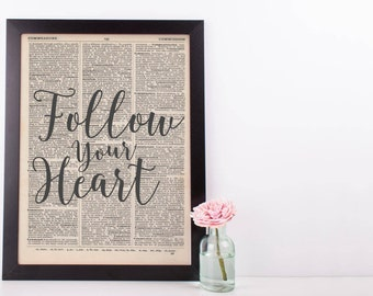 Follow Your Heart Dictionary Print