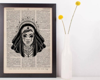 Evil Nun Star Halo Dictionary Print