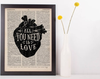 All You Need is Love Anatomical Heart