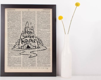 Home Sweet Home Dictionary Print