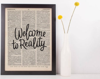 Welcome To Reality Dictionary Print