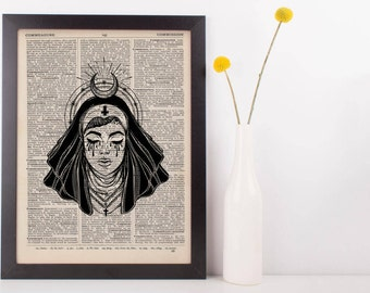 Devil Nun Moon Halo Dictionary Print