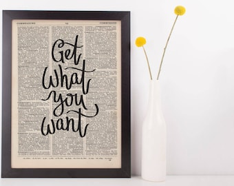 Get What You Want Dictionary Print