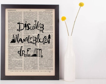 Discover Wanderlust Dream Dictionary Print