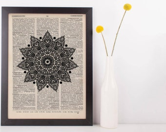 Fancy Pointy Star Mandala Dictionary Print