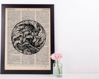 Circle Of Waves Dictionary Print