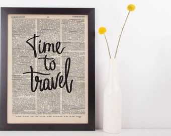 Time To Travel Dictionary Print