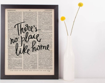 There's No Place like Home Vintage Dictionary Print