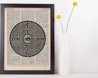 Eye Labyrinth Dictionary Print