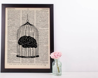 Brain Cage Anatomy Dictionary Print