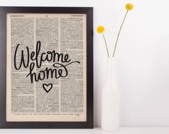 Welcome Home Dictionary Print