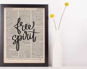 Free Spirit Dictionary Print