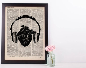 Listen to Your Heart Anatomical Dictionary Print
