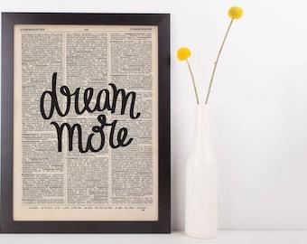 Dream More Dictionary Print