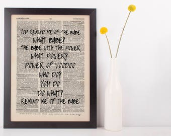 You Remind Me of the Babe Quote Dictionary Art Print, Vintage Labyrinth