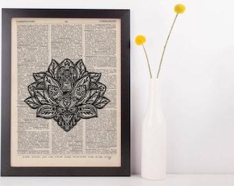 Lotus Mandala Dictionary Print