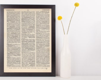 Custom Designed Print Gift Dictionary Art Print