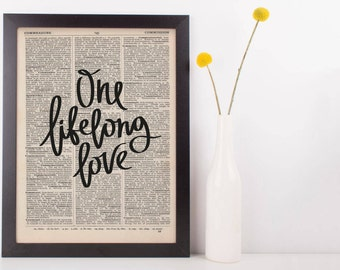 One Lifelong Love Dictionary Print