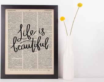 Life Is Beautiful Dictionary Print