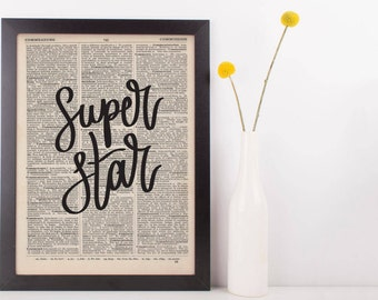 Super Star Dictionary Print