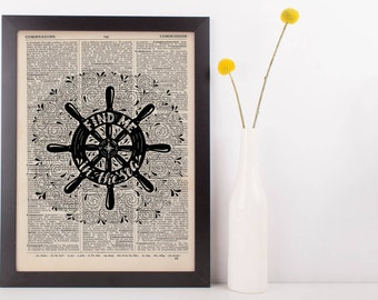 Find Me In The Sea Quote Dictionary Print