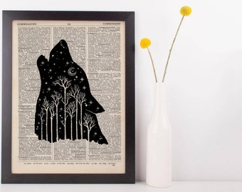 Wolf Forest Dictionary Print