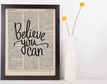 Believe You Can Dictionary Print