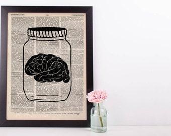 Brain in a Jar Anatomy Dictionary Print