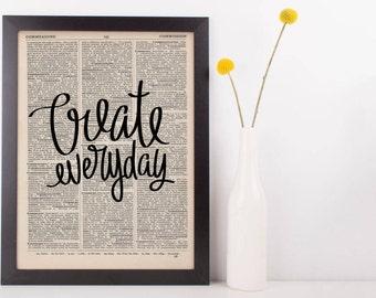 Create Everyday Dictionary Print