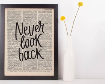 Never Look Back Dictionary Print
