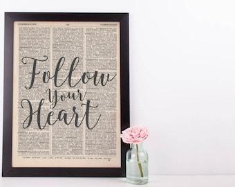 Follow Your Heart Dictionary Print