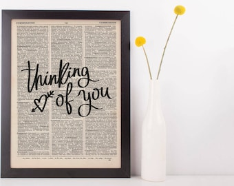 Thinking Of You Dictionary Print