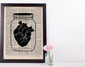 Heart Jar Anatomical Dictionary Print