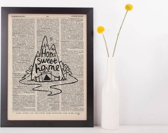 Home Sweet Home Dictionary Print