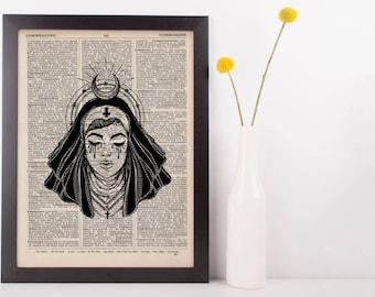 Devil Nun Moon Halo Dictionary Print