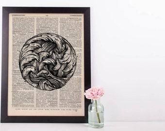 Circle Of Waves Dictionary Print
