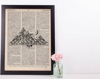 Not All Those Who Wander Are Lost Dictionary Print