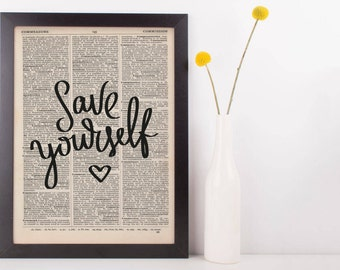 Save Yourself Dictionary Print