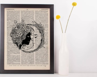 Forest Imp and Moon Kissing Dictionary Print