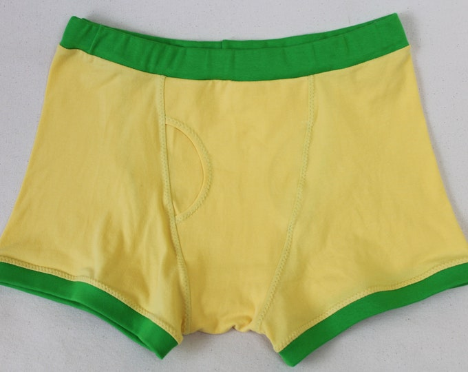 Lemon Lime - Organic Cotton Boxer Briefs For Fellows