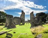 King Arthur's Grave, Glastonbury Abbey - Square Photographic Print
