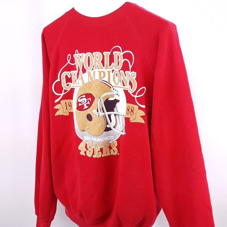 huge discount 314bf 786cd San Francisco 49ers Sweatshirt 80s Vintage Crew Neck Hip Hop Street Style
