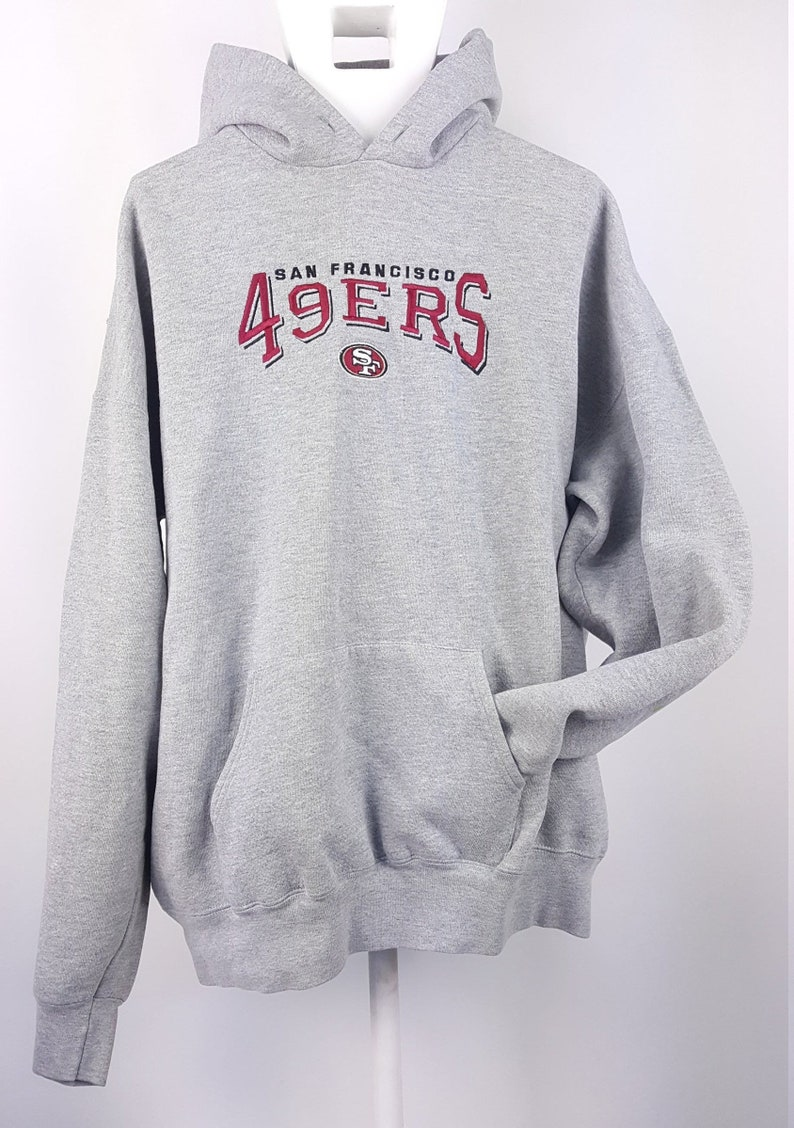 new products 886e3 5a63e Vintage San Francisco 49ers Hoodie Sweatshirt 80s 90s NFL Throwback