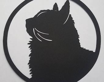 Custom Pet Portrait   Papercut Silhouette