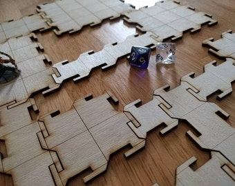 "Interlocking 1"" Grid RPG Dungeon/Floor Tiles"
