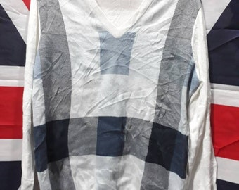 Free shipping!!!! Rare vintage 90s Aquascutum knit sweatshirt - casual - size M mens - good conditions