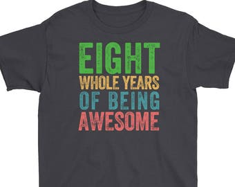 Eighth Birthday 8th Party Shirt Boy Girl Outfit Invitation