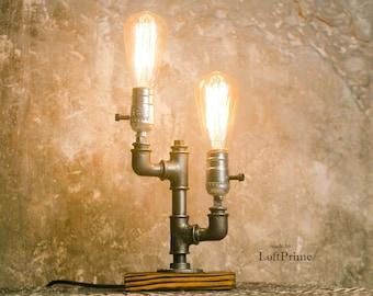 Bathroom modern lamp Industrial lemp Lobby lamp Modern bedside lamp Gift for him Edison lamps Gift for men Retro foyer lamp