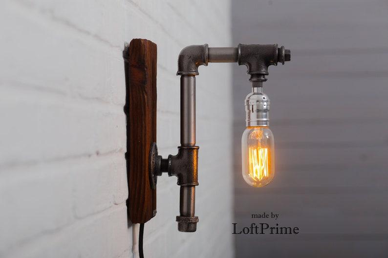 Applique lampada da parete rustica applique bagno regalo etsy