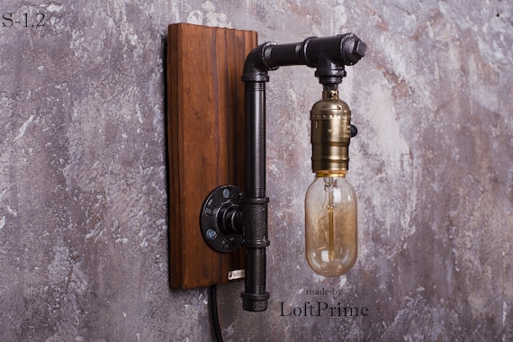 Sconces Rustic Wall Light Bathroom Sconce Gift For Men Etsy